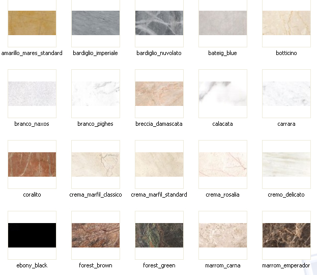 Tipos de granitos ideas de disenos for Tipos de granitos