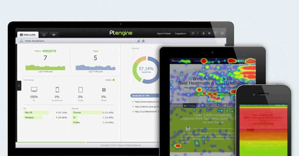 Ptengine: análises em tempo real e mapas de calor