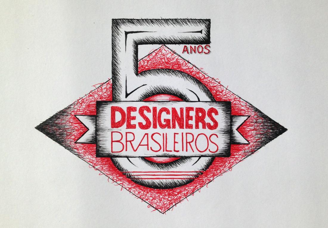 Desenho feito exclusivo para o Designers Brasileiros, feito com a mesma técnica das pranchas.