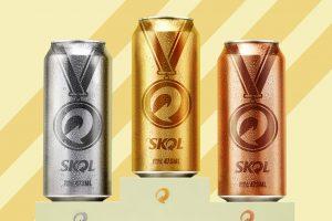 Latas Skol Medalhas