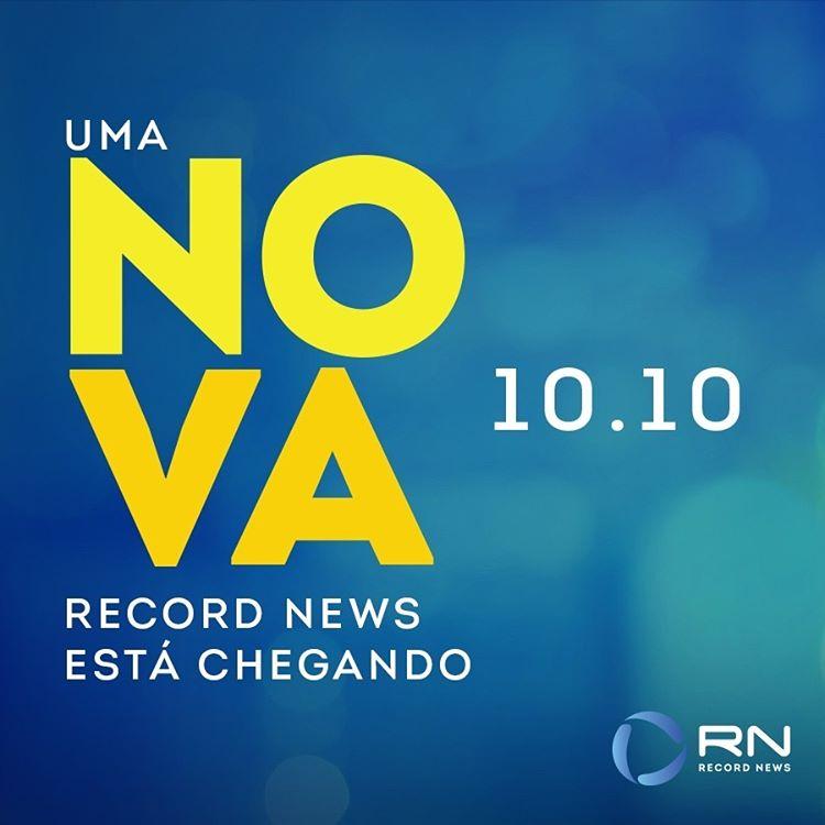 novo logo da Record News