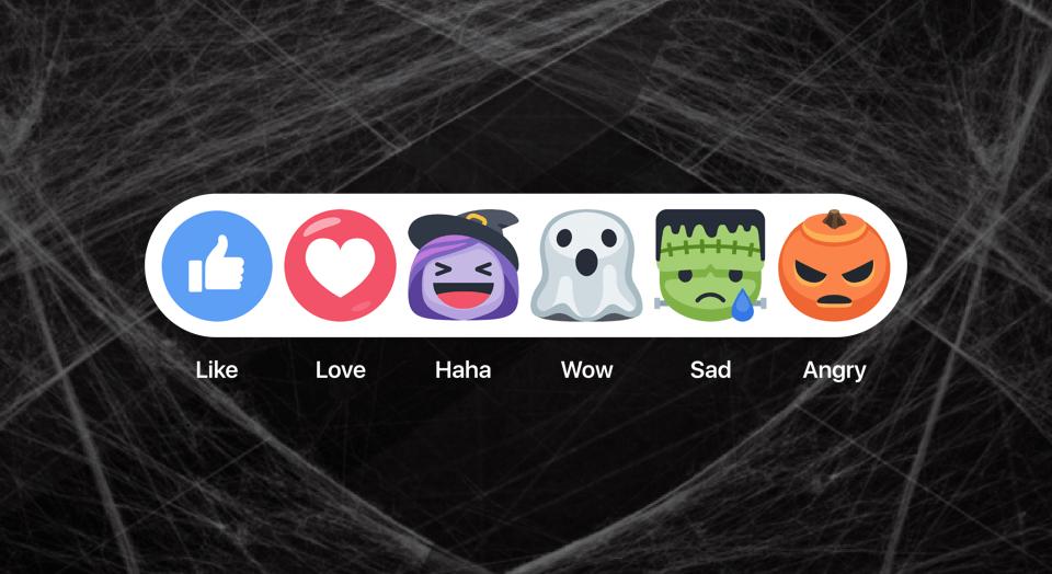 Reações Facebook Halloween