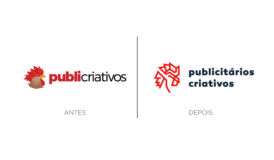 novo logo publicitários criativos