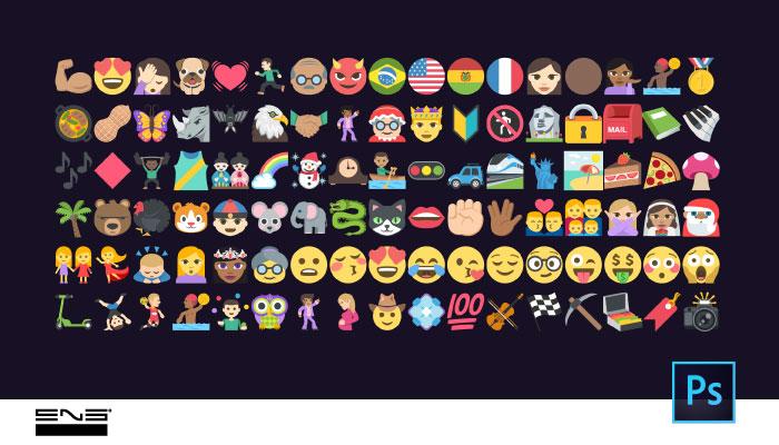 Emojis no Photoshop
