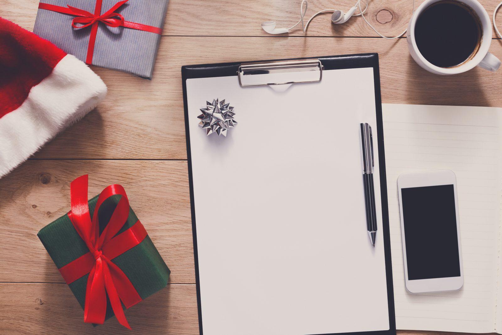 Faça um cartão de Natal perfeito no trabalho