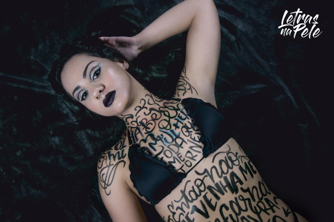 Letras na pele